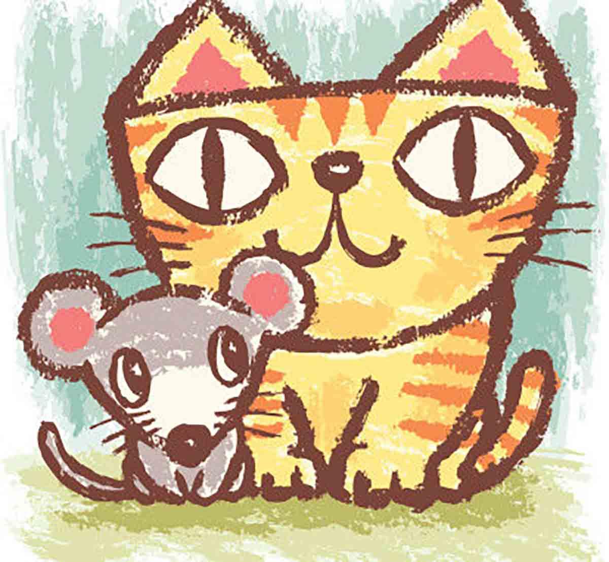 el raton y el gato hacen vida comun cuento corto